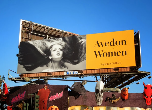 Avedon Women Gagosian Gallery billboard