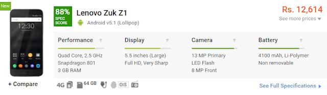 Lenovo Zuk Z1 Configuration