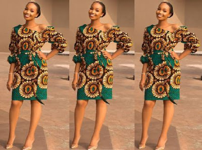 Pictures of Latest Nigerian Ankara Gown Styles: African dresses for women