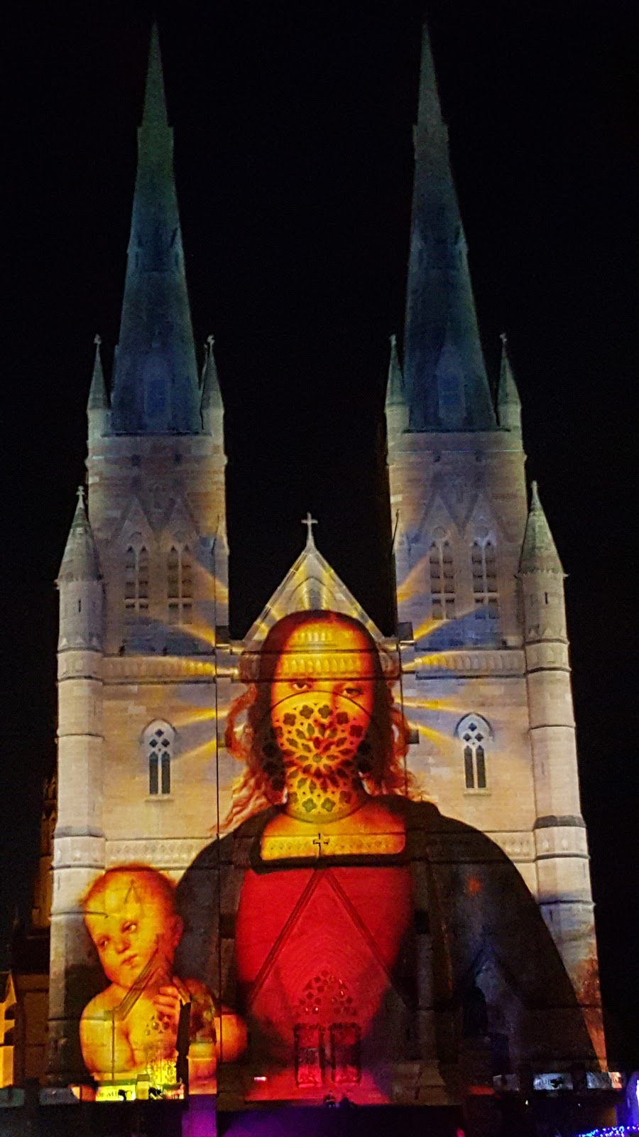 Sydney - City and Suburbs: St Mary's Cathedral, The Lights ...