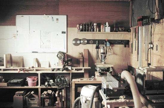 kitatenkaraの木工作業場の様子