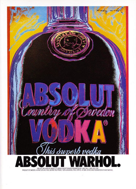 gastronomista absolut vodka warhol