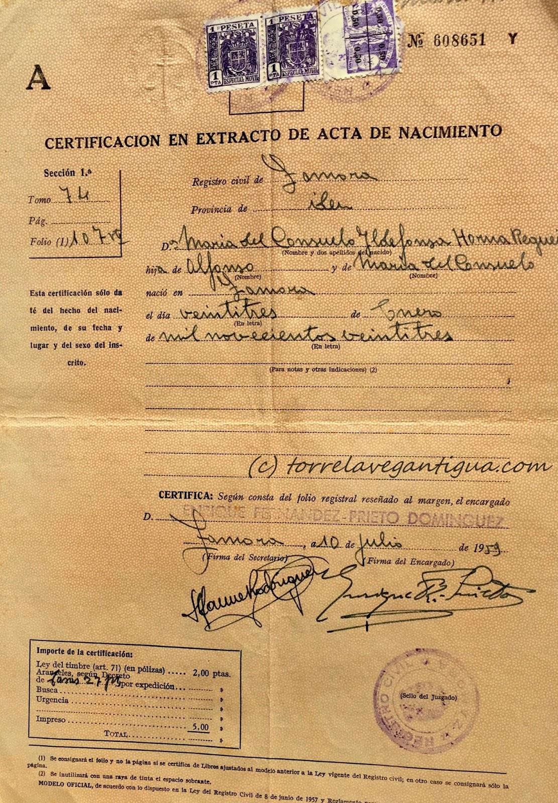 Fantástico Oficina De Partida De Nacimiento Martínez Colección ...