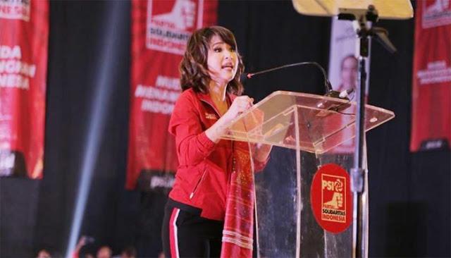 Balas Pidato Grace Natalie, Gerindra: PSI Itu Partai Pendukung Bupati Cirebon yang Ditangkap KPK