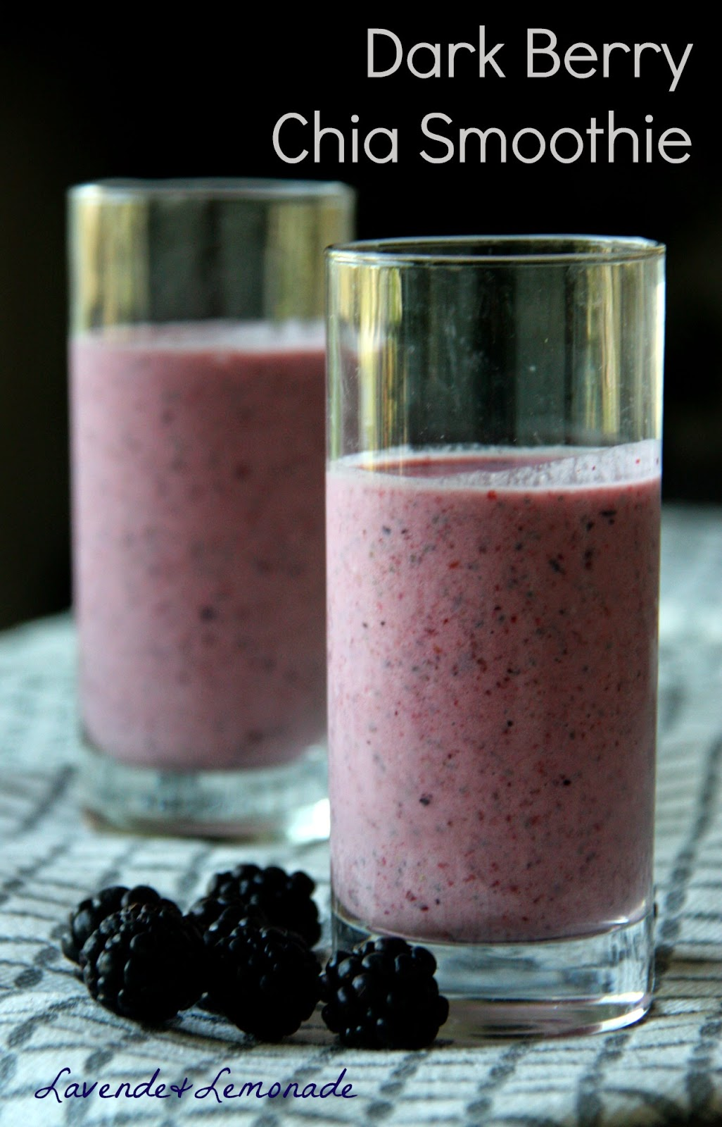 Dark Berry Chia Smoothie - a refreshing burst of antioxidants!