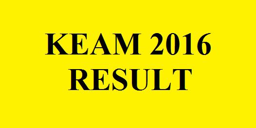 KEAM 2016 Result