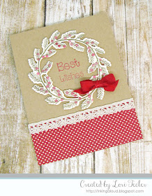 Best Wishes Wreath card-designed by Lori Tecler/Inking Aloud-stamps and dies from SugarPea Designs