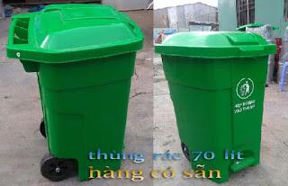 www.123nhanh.com: Thùng rác 70 lít có đạp chân