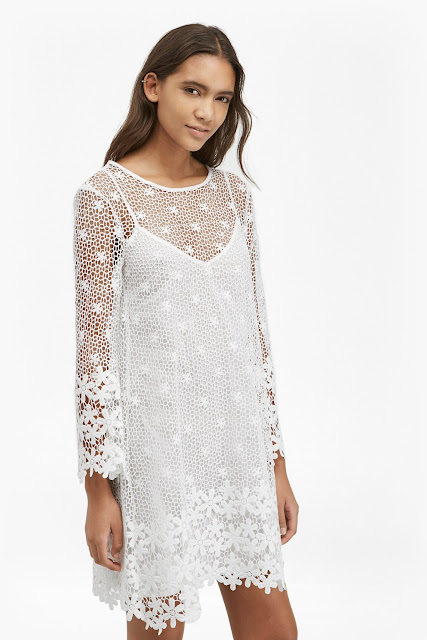 french connection white daisy dress