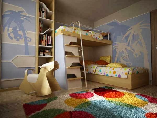 diseño de dormitorio con litera