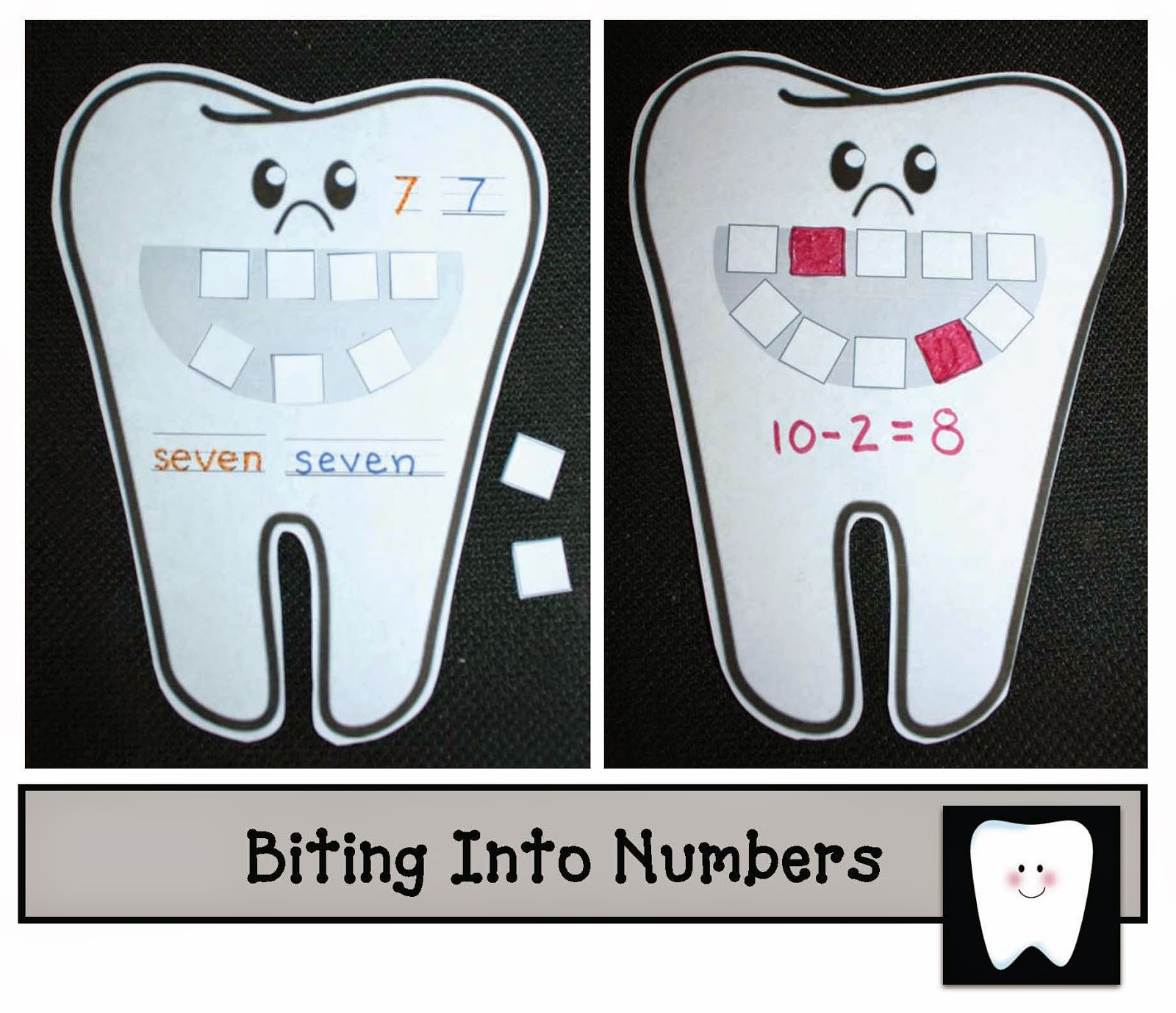 Classroom Freebies Tooth Math Center Game
