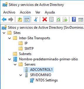 eliminar registros sitios y servicios de active directory dc viejo fsmo