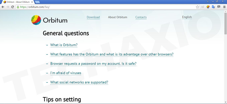 Orbitum Browser Screenshot