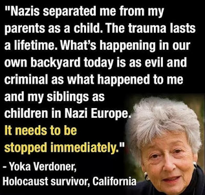 Holocaust Survivor Quote in response to family separation