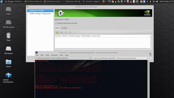 Cara Install Driver VGA Nvidia di BackBox 5 Based on Ubuntu 16.04 LTS GNU/Linux