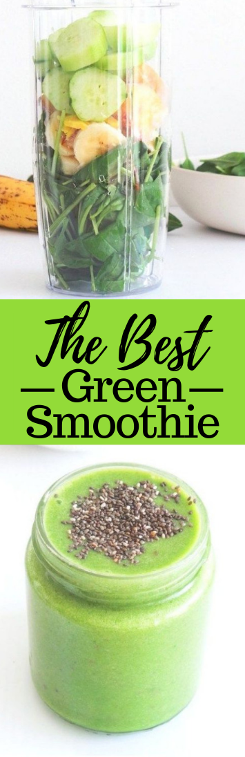 THE BEST GREEN SMOOTHIE #drink #smoothie