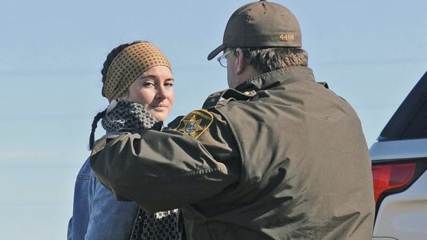 Actress Shailene Woodley arrested during pipeline protest