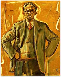 João Fahrion - Autorretrato (1960) - Óleo sobre Tela