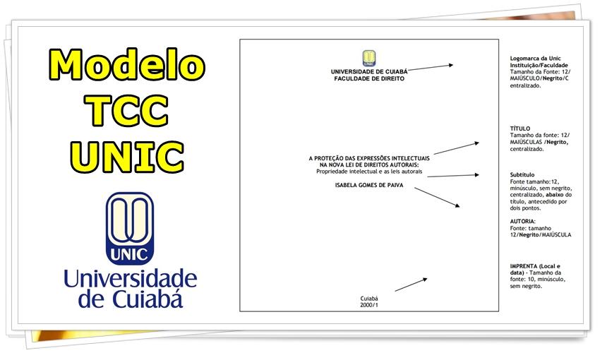 Modelo Tcc Unic Universidade De Cuiabá Portfólio Ead