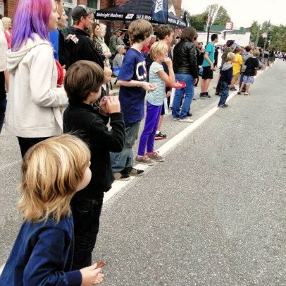 Kids Waiting for Parade Antrim NH Home Harvest Festival New England Fall Events