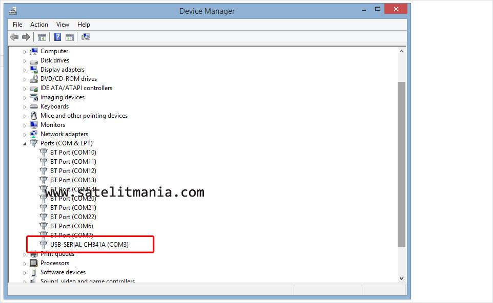 Install perangkat USB Programmer CH341A