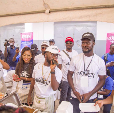 Bisa Kdei Feeds Hundreds Of People At Awoshie