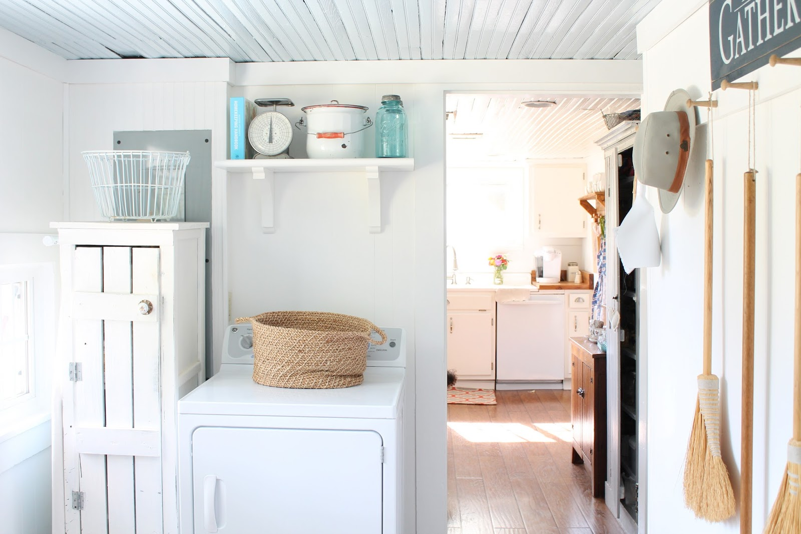 keeping it cozy the laundry room again