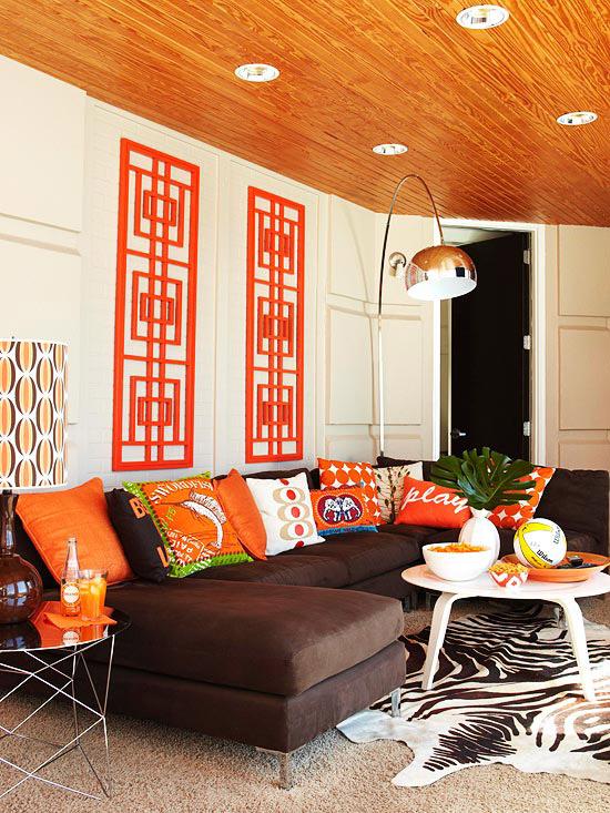 Modern Furniture: Decorating With Orange 2013 Ideas