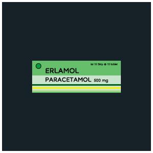 Erlamol : Paracetamol 500 mg (Tablet - Kaplet)