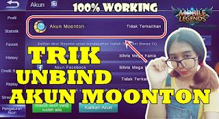 Cara Unbind Akun Moonton Mobile Legends 100% Working
