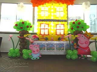 DECORACION PEPPA PIG RECREACIONISTAS MEDELLIN 8