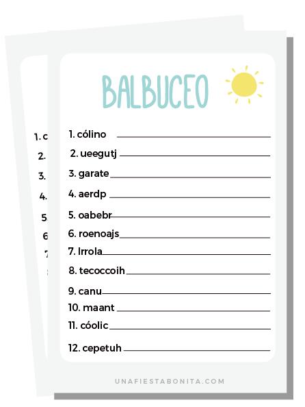 Exceptional ... Balbuceo Juegos Baby Shower De Baby Shower Bonita Imprimibles Para Una  Fiesta Juegos ...