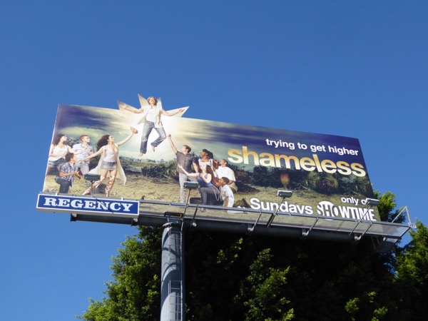 Shameless season 8 cutout extension billboard