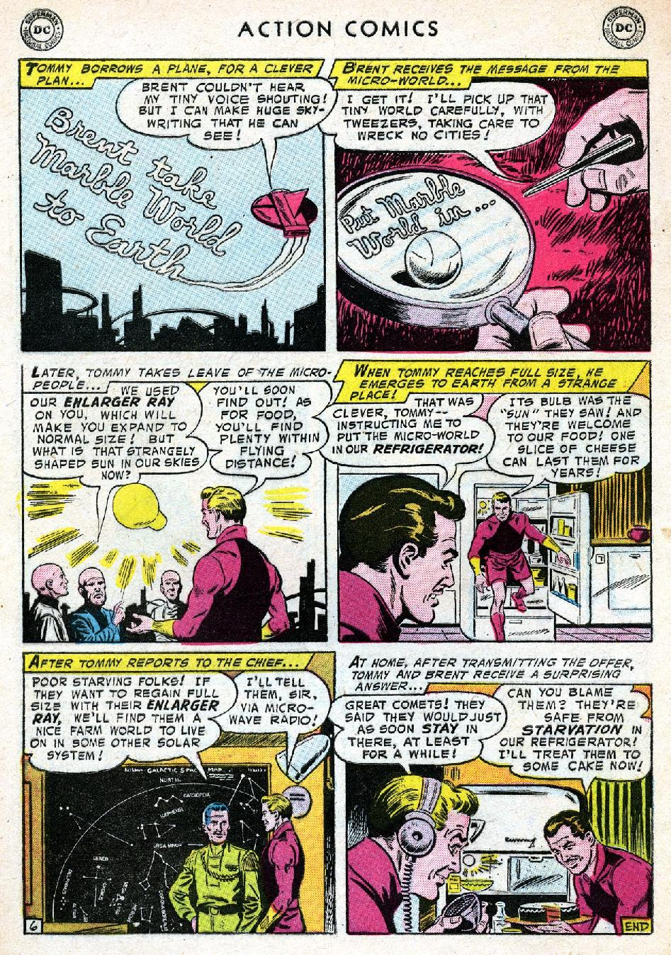Read online Action Comics (1938) comic -  Issue #219 - 32