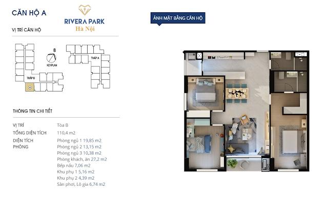 Chi tiết căn hộ A Rivera Park