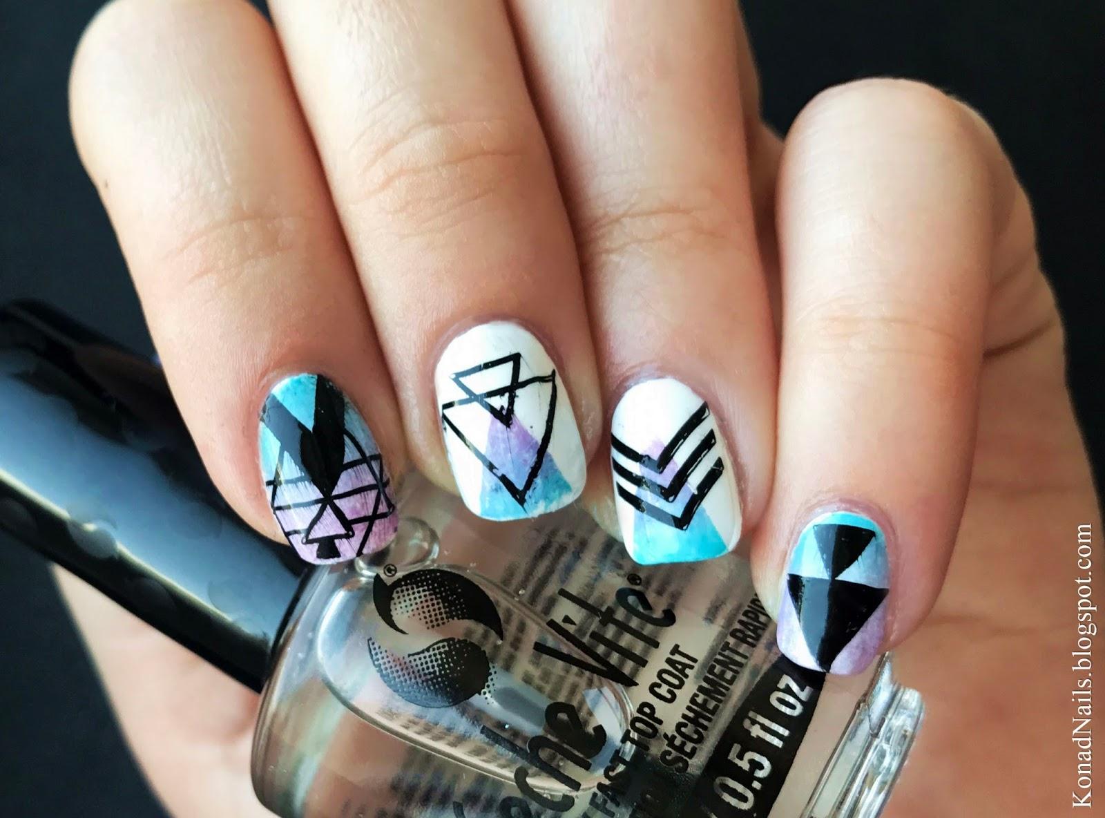 Festival nails | Konad Addict | Bloglovin\'