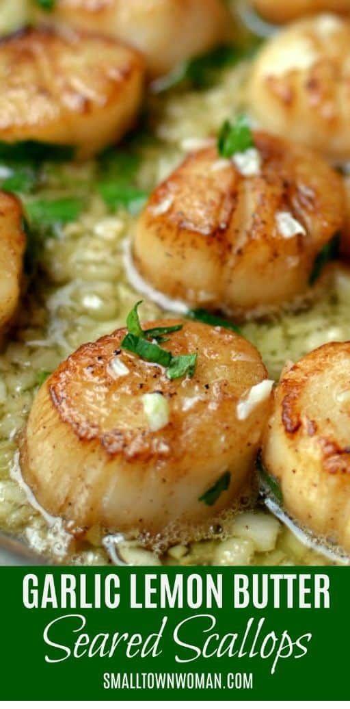 Garlic Lemon Butter Seared Scallops