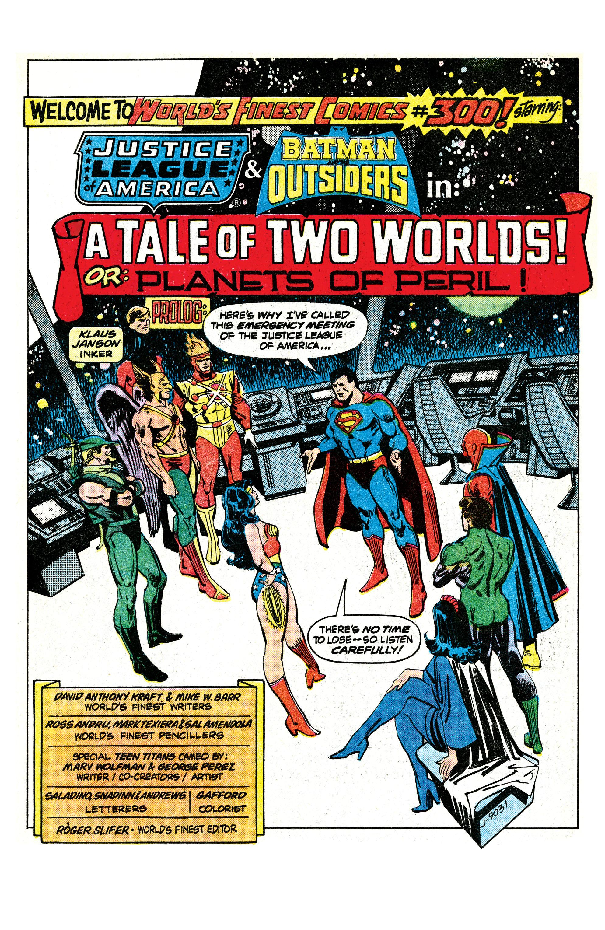 Read online World's Finest Comics comic -  Issue #300 - 2
