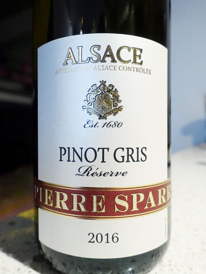Pierre Sparr Réserve Pinot Gris 2016 (88+ pts)