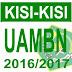 KISI KISI UAMBD Madrasah Ibtidaiah Tahun Pelajaran 2016/2017