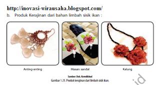 inovasi-wirausaha.blogspot.co.id - Cara Membuat Kerajinan Tangan Dari Sisik Ikan - Produk Kerajinan dari bahan limbah sisik ikan