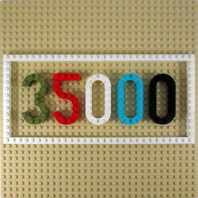 MOC LEGO painel que assianal as 35000 visitas ao meu blogue