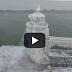 Ο παγωμένος φάρος της λίμνης Μίσιγκαν σε ένα βίντεο!