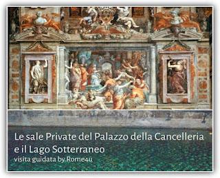"""Le Sale Private del Palazzo della Cancelleria e il Lago Sotterraneo - Visita guidata con """"apertura esclusiva"""""""