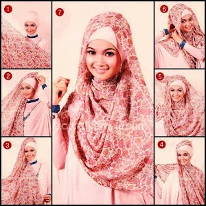 Cara Menggunakan Jilbab Segitiga Pengantin Modern Formal