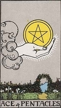 The Ace of Pentacles, RWS