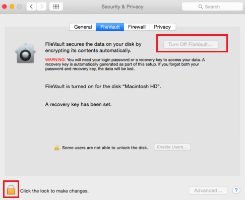 Turn FileVault Off if Your macOS Sierra is slow after turning it on