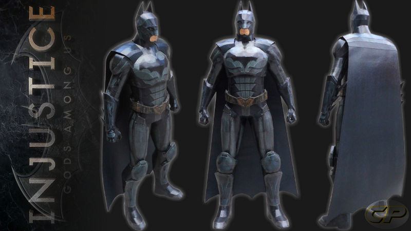 Injustice Gods among Us) Batman Paper Model