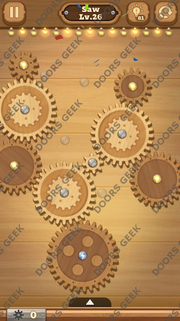 Fix it: Gear Puzzle [Saw] Level 26 Solution, Cheats, Walkthrough for Android, iPhone, iPad and iPod