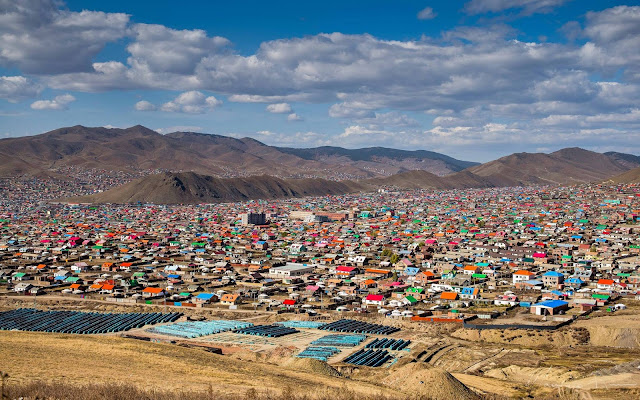 A few of just some of the ger districts that surround 'downtown' Ulaanbaatar
